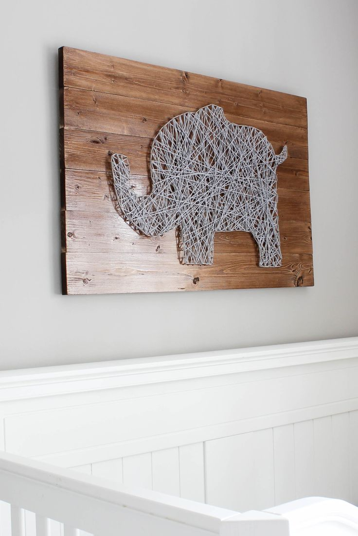 Nursery String Art Tutorial! This technique can be adapted to create any type of string art.