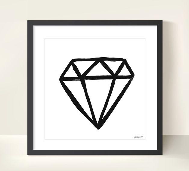 Druck Diamant // poster/print diamonds via DaWanda.com