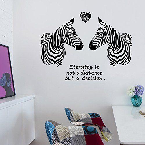 E Livingstyle Zebra Love Letter Wall Sticker Art Home Wal... Https: Design Ideas