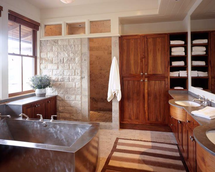 a walk in shower with no door no step up though like the - Light Hardwood Bathroom 2015