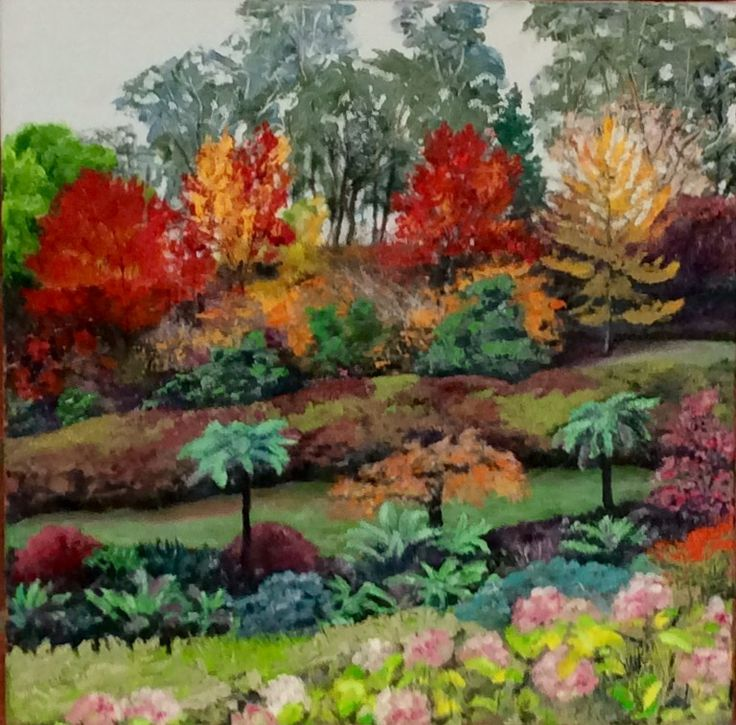 National Rhododendron Gardens, Olinda.  Oil on canvas.