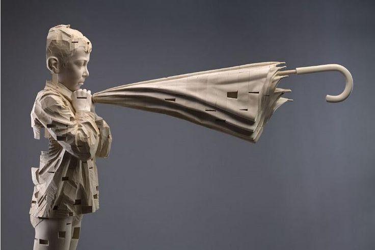 Gehard Demetz - I hear the spirits while I whisper, Wood, 2007