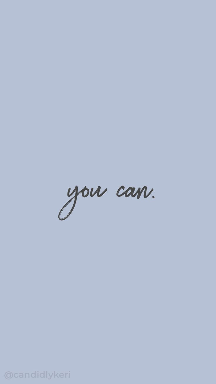 You Can Inspirational Motivational Quote Gray And Blue Purple