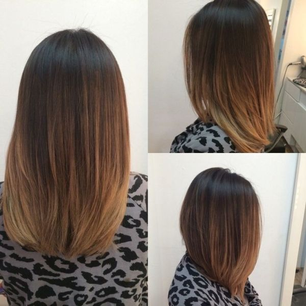The Untouchables Hair Design - Las Vegas, NV, United States. A Long Bob haircut with balayage Hightlights by rena