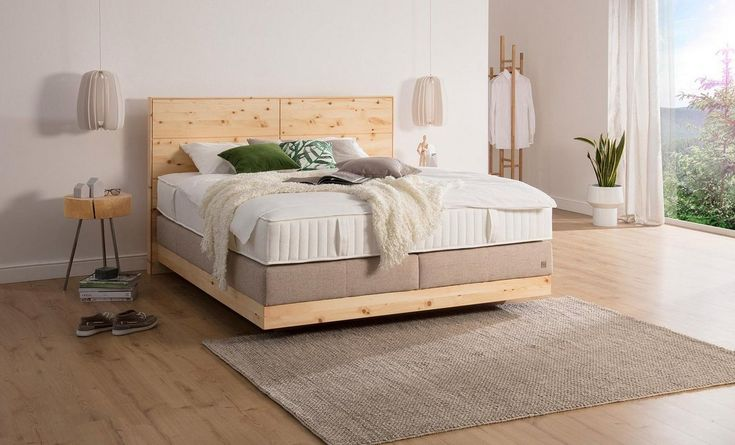 Boxspringbett »Chalet«, Grand Comfort TF 1000 PM, Zirbenholz natur geölt #Products