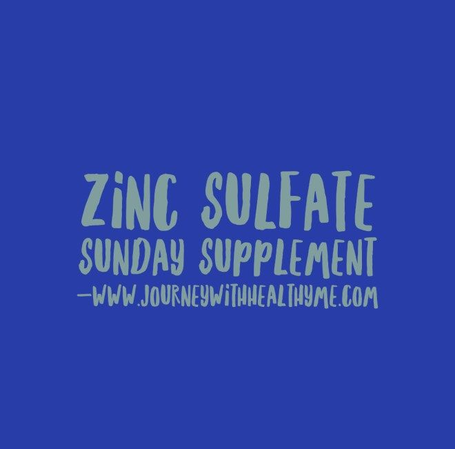 Zinc Sulfate – Journey With Healthy Me