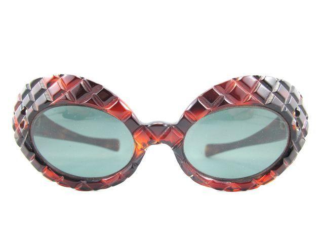 1950s Brown Checker Sunglasses