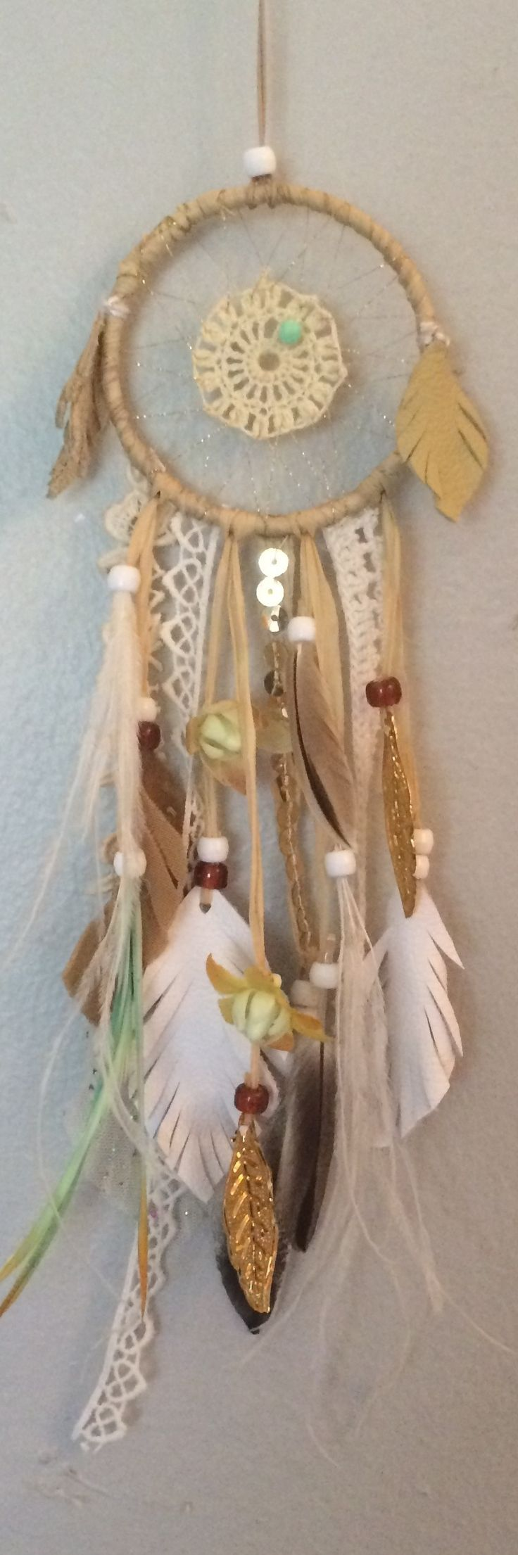 sparkling mini #dreamcatcher by Rachael Rice: https://www.etsy.com/listing/170409771/sparkling-mini-dreamcatcher-with-gold?