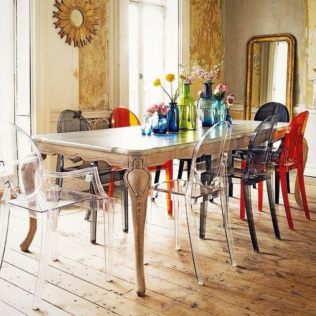 17 best images about la chaise louis ghost on pinterest wooden dining table - Chaise mademoiselle starck ...