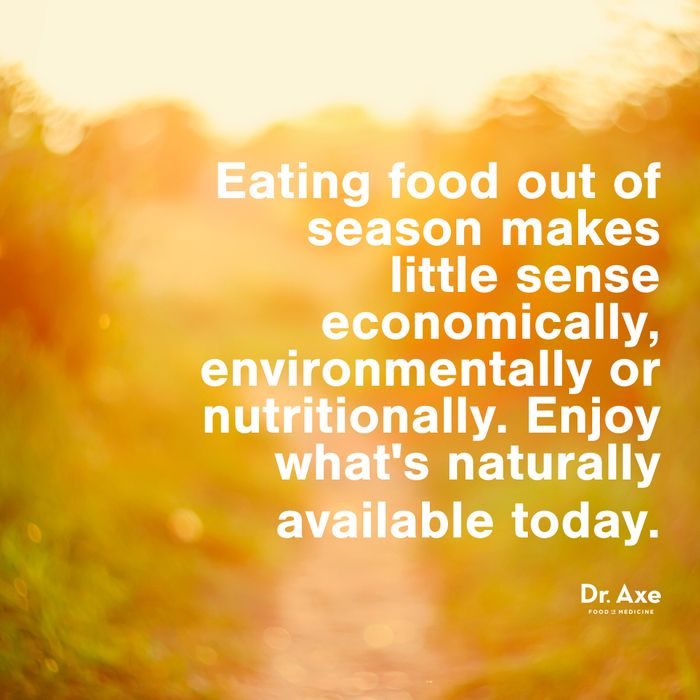 Are the foods you are eating in season?