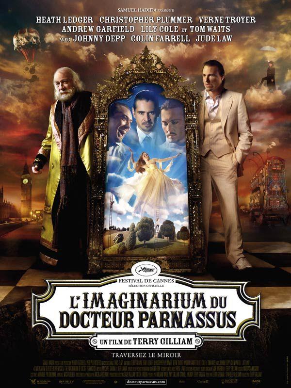 """L'Imaginarium du Docteur Parnassus est un film de Terry Gilliam avec Heath Ledger, Johnny Depp. Synopsis : Avec sa troupe de théâtre ambulant, """" l'Imaginarium """", le Docteur Parnassus offre au public l'opportunité unique d'entrer dans leur univers"""