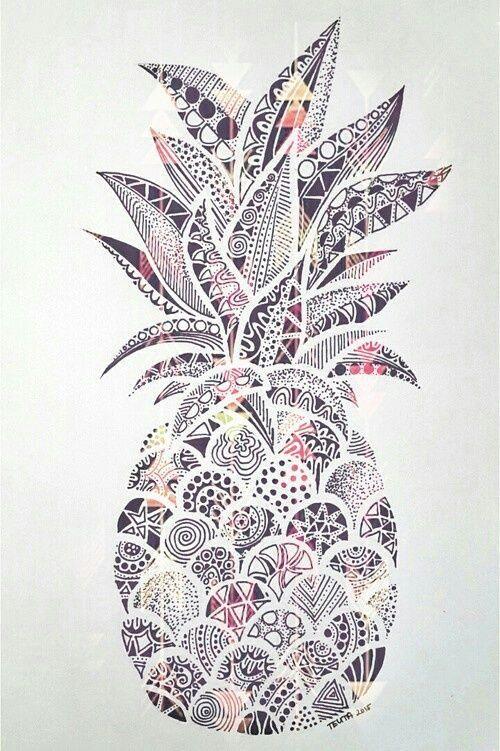 Pattern Pineapple Background