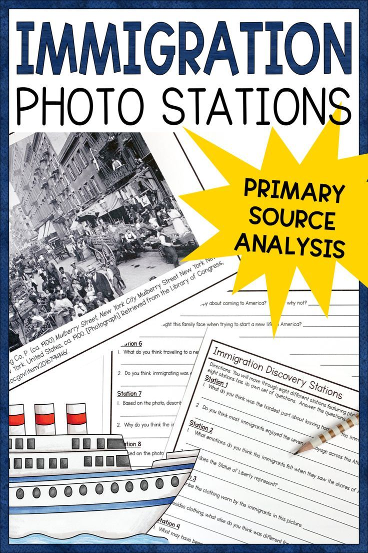American Immigrant Primary Source Activity Ellis Island Immigration And Urbanization P Immigration Activities Primary Sources Activities Immigration Lessons