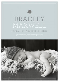 baby announcement card.