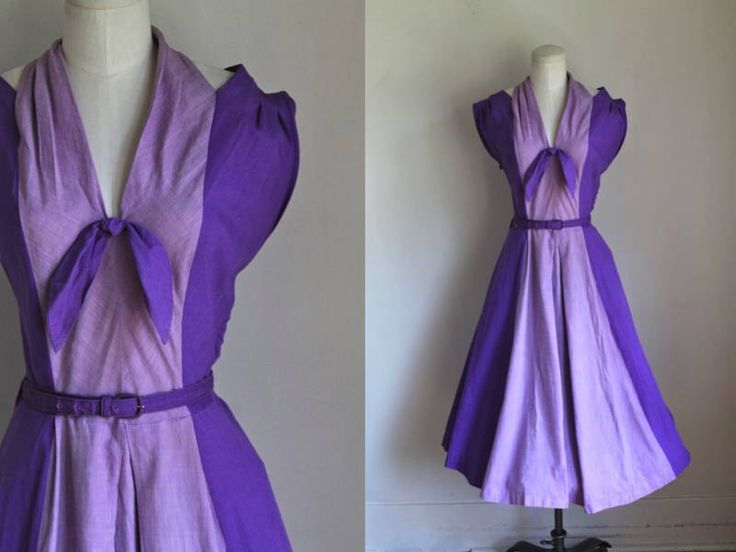 vintage 1940s dress - IRIS two tone purple sundress / M by MsTips on Etsy https://www.etsy.com/listing/550626276/vintage-1940s-dress-iris-two-tone-purple
