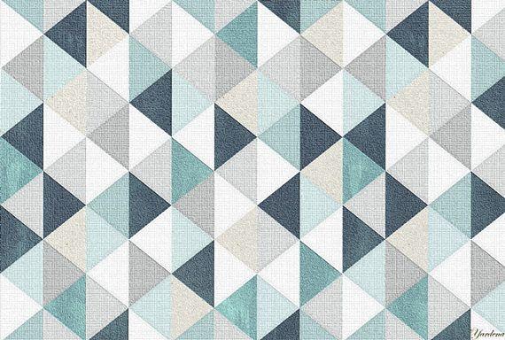 Vinyl Mat Triangular Pattern Art Mat Geometric Mat Carpet For