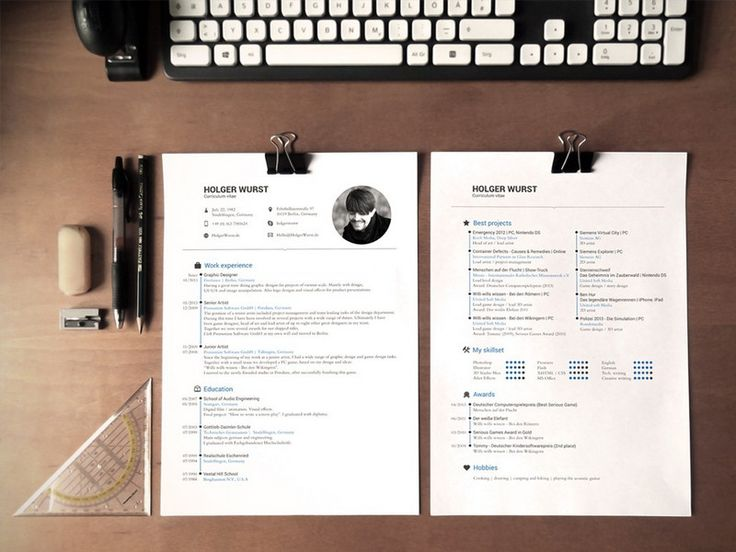 236 best Resume design \ layout images on Pinterest Resume - resume lay out