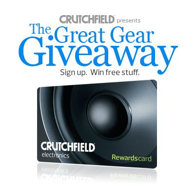 I just entered the Crutchfield Sweeps for a $350 Rewards Card for consumer electronics, you can too – #GGGEntry #win
