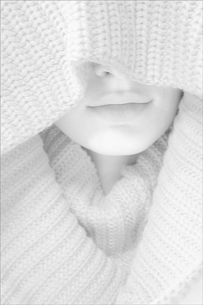 knitted white on white,