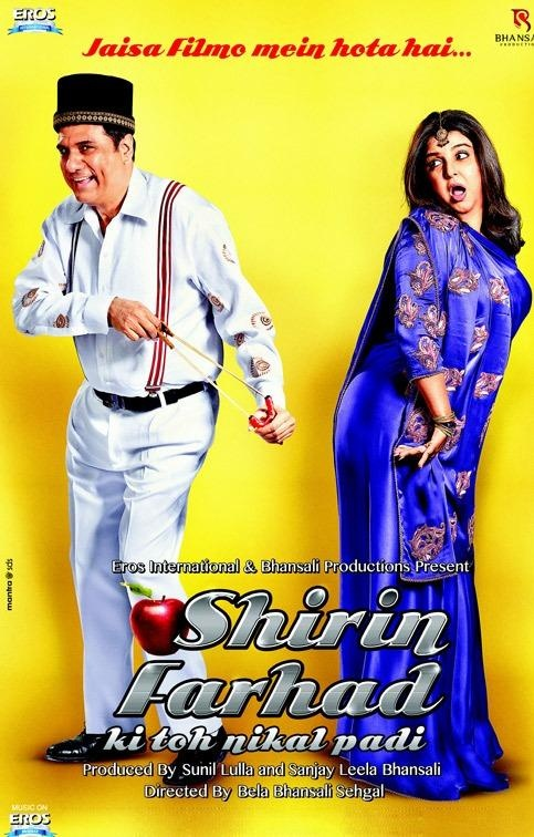 First Look Shirin Farhad Ki Nikal Padi Boman Irani Farah Khans Acting Debut Bollywood Movie Posters Trailers Pinterest Movies Film And Movie