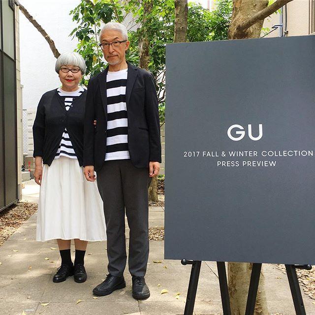 先日、GUさんの展示会にご招待いただいて上京してきました。煌びやかな雰囲気に田舎者の私達はドキドキ… この日のファッションは、もちろん二人共オールGUです。 #gu展示会 #gu #ジーユー #2017fwgu #couple #over60 #fashion #coordinate #outfit #ootd #instafashion #instaoutfit #instagramjapan #greyhair #夫婦 #60代 #ファッション #コーディネート #夫婦コーデ #今日のコーデ #グレイヘア #白髪 #共白髪