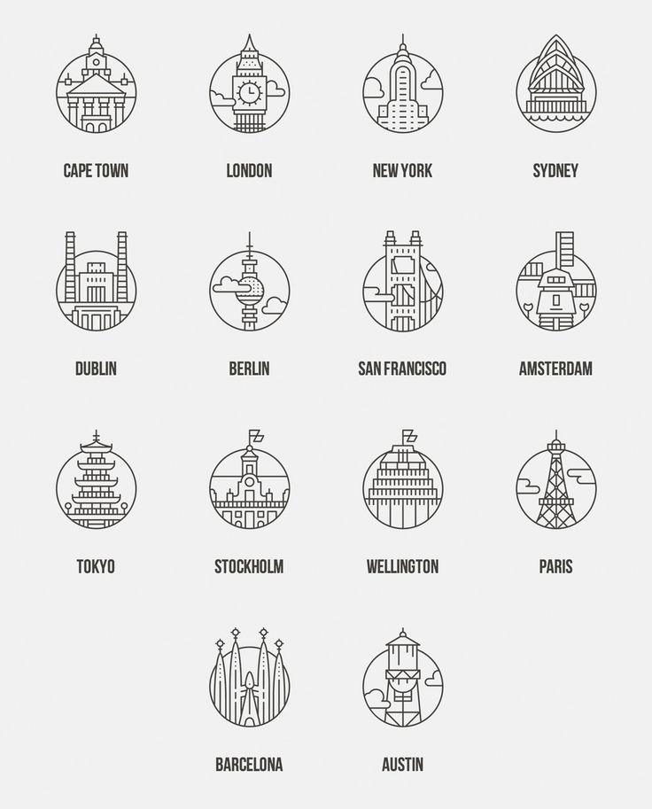 Icons of cities of the world