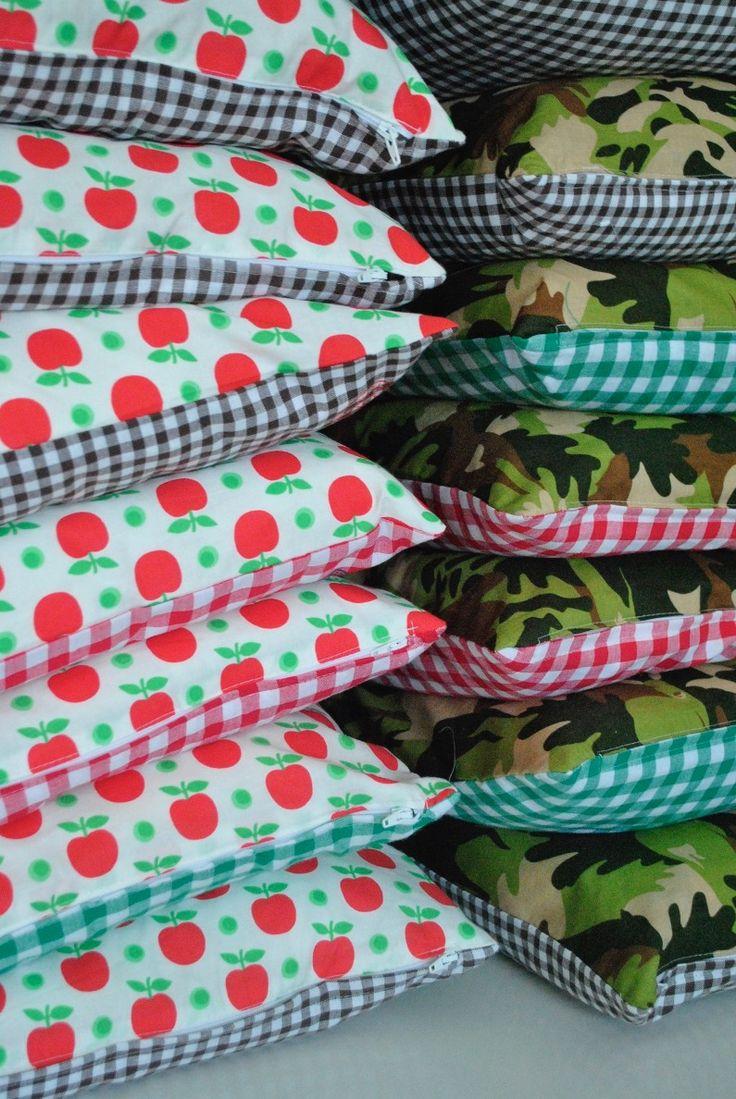 Handmade cushions designed by me for Bar Boon/Hilversum.