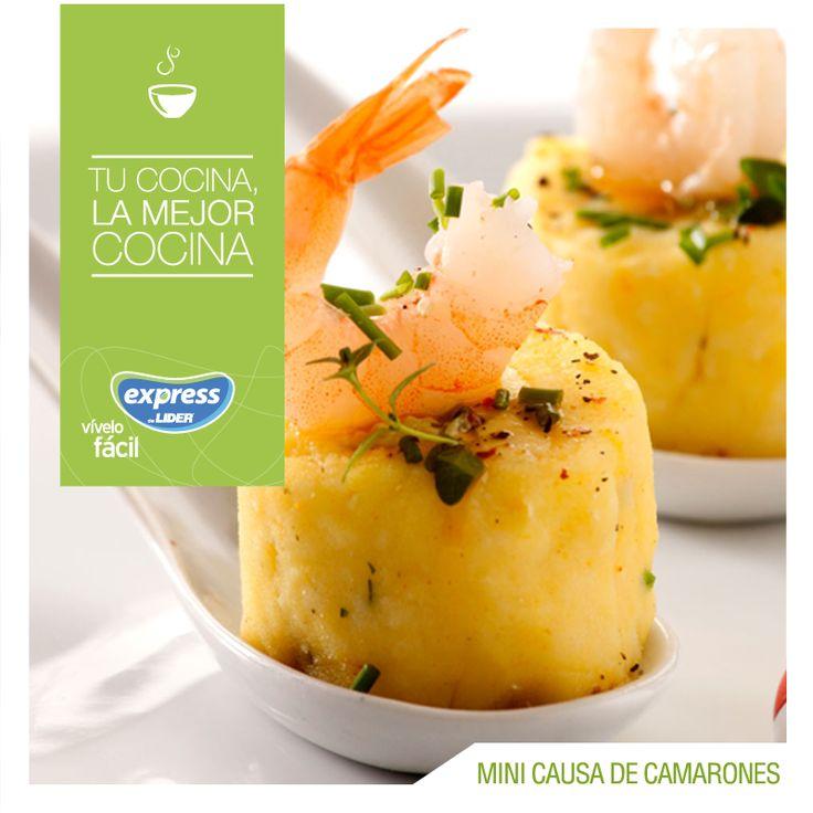 Perú: Mini causas con camarones #Recetario #Receta #RecetarioExpress #Lider #Food #Foodporn #Peru #Causa #PeruvianFood