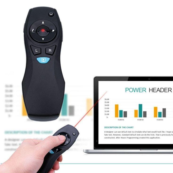Presentación PPT Control Remoto Air Mouse Presentador Puntero Láser inalámbrico Pluma ppt inalámbrico caliente apresenta o apresentador ponteiro