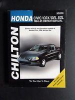 30200 CLEAN,  CHILTON REPAIR MANUAL HONDA CIVIC,CRX,DEL SOL 1984-95