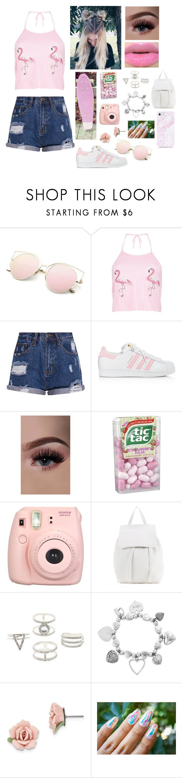"""Untitled #953"" by a-angel ❤ liked on Polyvore featuring Boohoo, adidas, Penny, Fujifilm, Mansur Gavriel, Charlotte Russe, ChloBo and 1928"