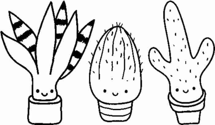 Cute Cactus In Pots Coloring Pages Pumpkin Coloring Pages Cute Coloring Pages Flower Coloring Pages