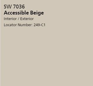 Accessible Beige - Sherwin Williams  www.IndyHomes.com