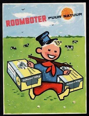 'Roomboter puur natuur' #Reclame #advertentie #affiche #Advertising