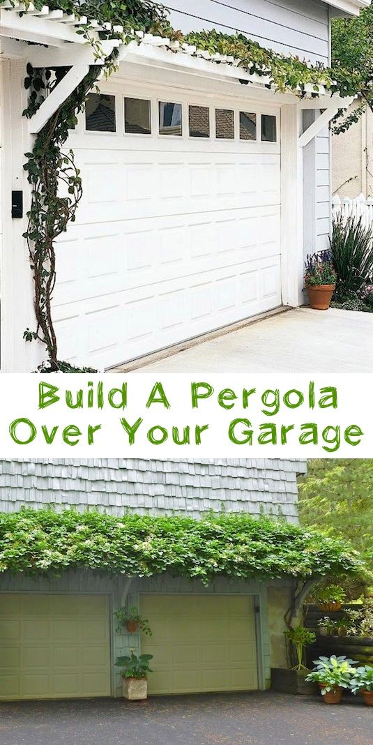 #12. Add a pergola over your garage! ~ 17 Impressive Curb Appeal Ideas (cheap and easy!)