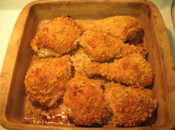 Make and share this Oven Fried Chicken With Corn Flakes recipe from Food.com.