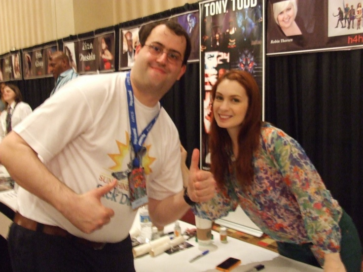 Me with Felicia Day