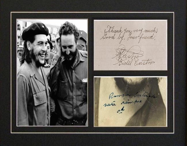автограф че гевары фото первом