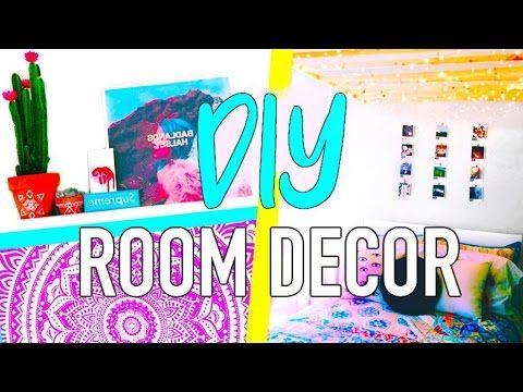 DIY Tumblr room decor 2016 + Room organization - DIY Henna Coat Hanger, Ceiling Light Fixture, Jar on Shelf Organizer, Succulent Arrangement