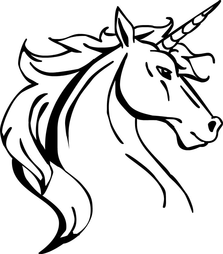 unicorn profile drawing - Google Search