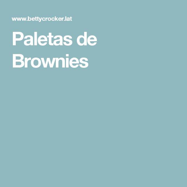 Paletas de Brownies