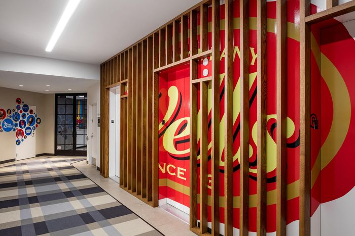NELSON designed the offices of ice cream company Blue Bunny (a Wells Enterprises company), located in Minneapolis, Minnesota.