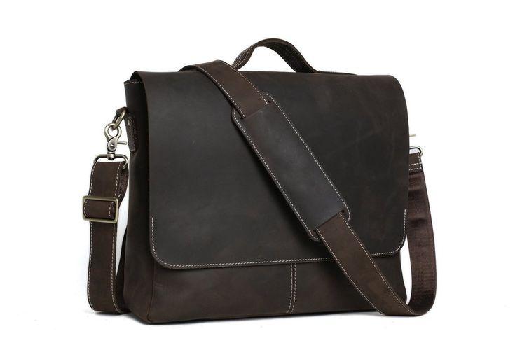 daisuke leather messenger bag