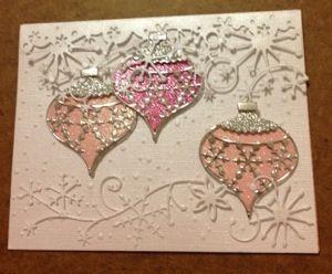 Weihnachtskarte mit Ornamenten                                                                                                                                                                                 Mehr