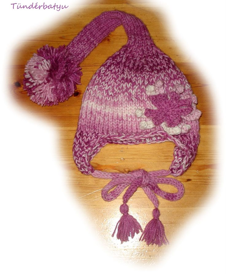 Little elfhat in purple for a little baby girl www.facebook.com/tunderbatyu