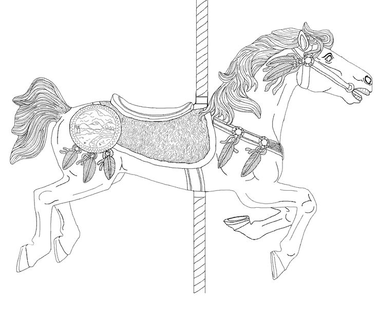 Advanced Coloring Pages Of Horses : Best images about coloring pages advanced carousel