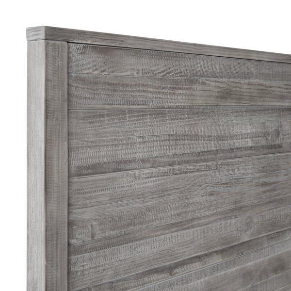 Wood Beds, Grain Wood Furniture Montauk Queen Solid Panel Bed Rustic Walnut