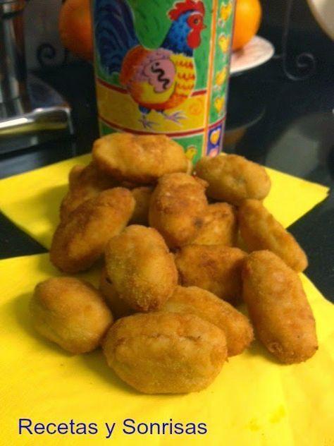Croquetas de pollo a l ´ast o rustido http://recetasysonrisas.blogspot.com.es/2014/03/croquetas-de-pollo-last.html #food #récipe #tutorial #chicken #salad #croquette