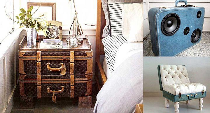 Decoración anticrisis con maletas viejas