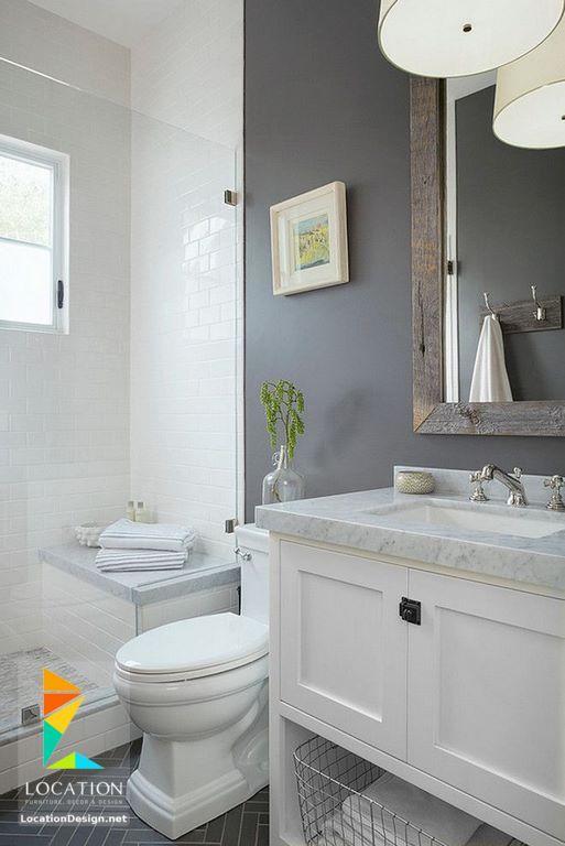 ديكورات حمامات صغيرة المساحة 50 تصميم حمامات مودرن بأفكار رائعة جدا Bathroom Design Small Bathroom Remodel Master Bathroom Remodel Designs